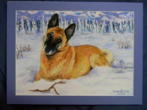 I commissioned Danae to make this pastel portrait of Ella for Gary's birthday.
