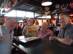 Richard (left), Joan, Aunt Vee and Ed during our stop in Montana on the way to Alaska.