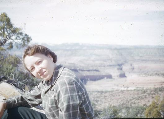 Vee in 1953 overlooking Delores River near her hometown.