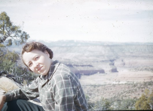 Vee in 1953 overlooking Delores River near her hometown.